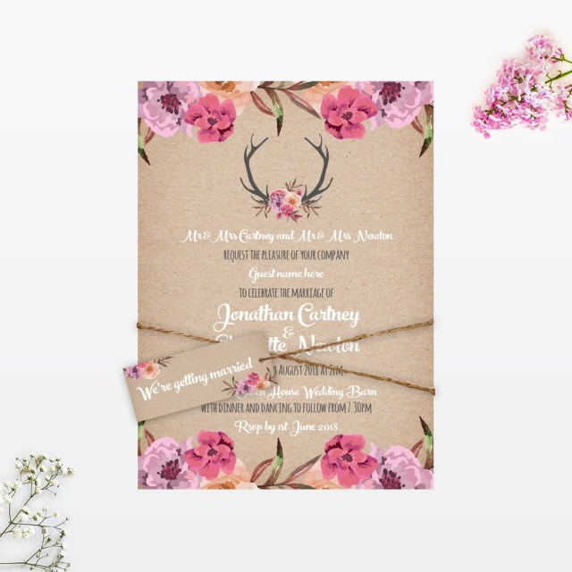 Rustic Wedding Invitation Country Rustic Wedding Invitation Love Invited
