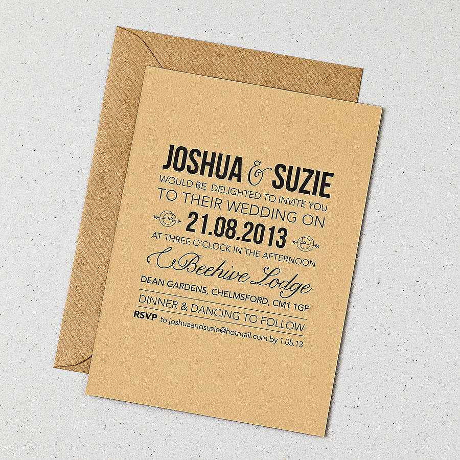 Rustic Wedding Invitation Rustic Style Wedding Invitation Doodlelove Notonthehighstreet