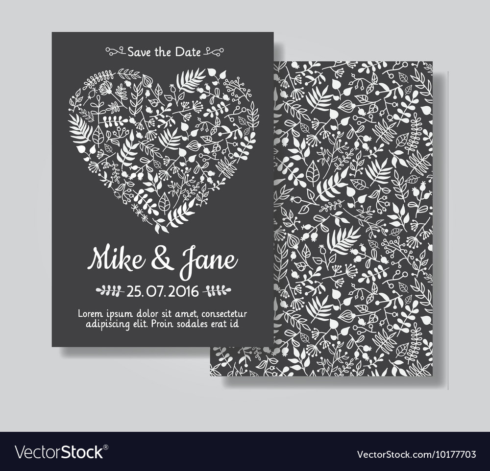 Rustic Wedding Invitation Rustic Wedding Invitation Card Set Royalty Free Vector Image