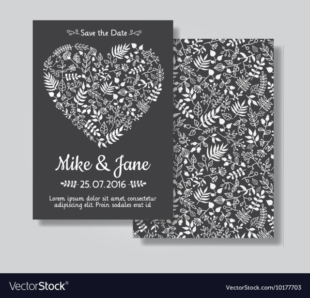 Rustic Wedding Invitation Rustic Wedding Invitation Card Set Royalty Free Vector Image