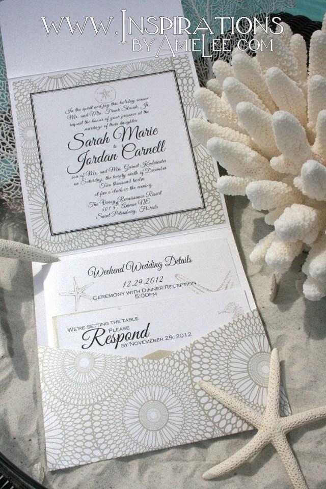Seashell Wedding Invitations Seashell Wedding Invitation Beach Wedding 5000 Via Etsy