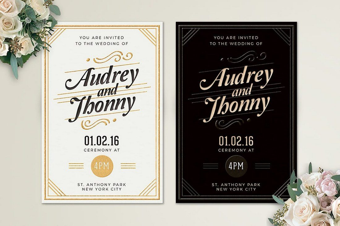 Simple Elegant Wedding Invitations 50 Wonderful Invitation Card Design Samples Shack
