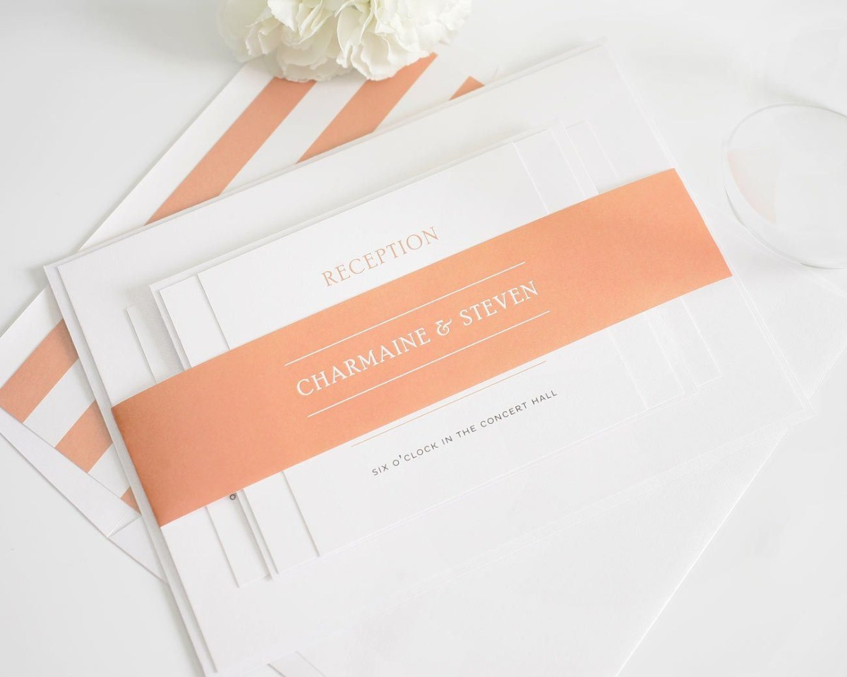 Simple Elegant Wedding Invitations Elegant Wedding Invitations In Peach Wedding Invitations