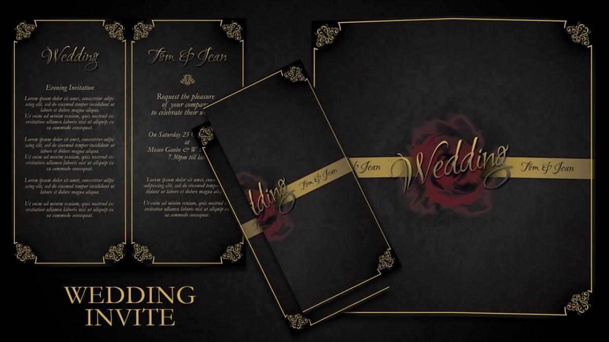 Simple Elegant Wedding Invitations How To Make Simple And Elegant Wedding Invitations In Photoshop