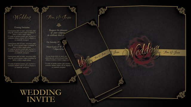 Simple Elegant Wedding Invitations How To Make Simple And Elegant Wedding Invitations In Photoshop