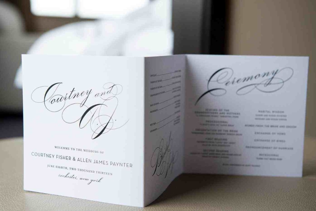 Simple Elegant Wedding Invitations Simple Elegant Wedding Programs Weddings Pinterest Wedding