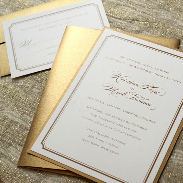 Simple Elegant Wedding Invitations Simple Gold Wedding Invitation Printable Gold Wedding Invitations