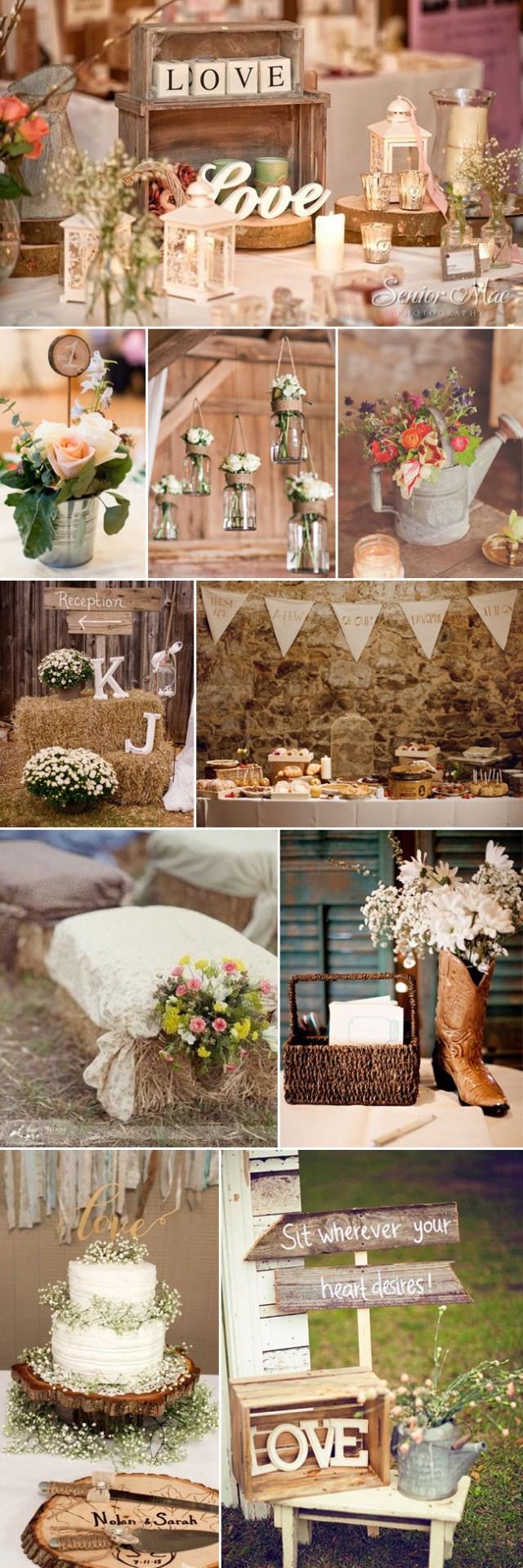 Simple Rustic Wedding Decor Rustic Wedding Ideas Stylish Wedd Blog
