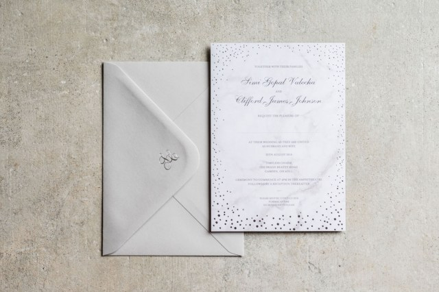 Sparkle Wedding Invitations 10 Gorgeous Winter Wedding Stationery Ideas The Foil Invite