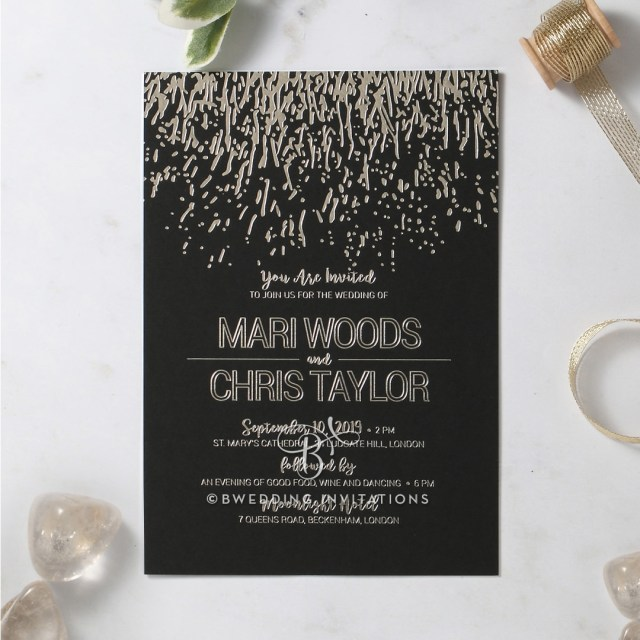 Sparkle Wedding Invitations Fiery Sparkles And Shimmering Design Wedding Stationery