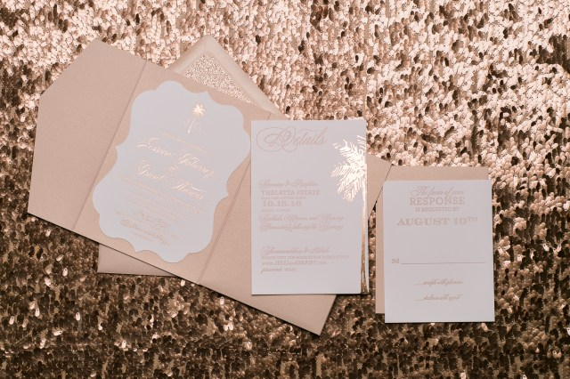 Sparkle Wedding Invitations Foil And Letterpress