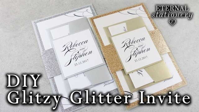 Sparkle Wedding Invitations How To Make Elegant Glitter Wedding Invitations With Belly Band