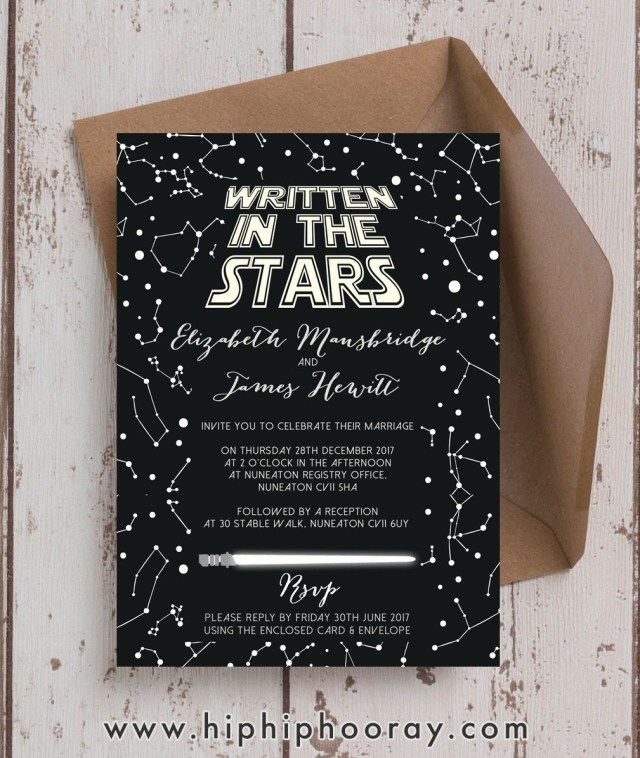 Star Wars Wedding Invitations Amazing Star Wars Themed Inspired Wedding Invitations Invites