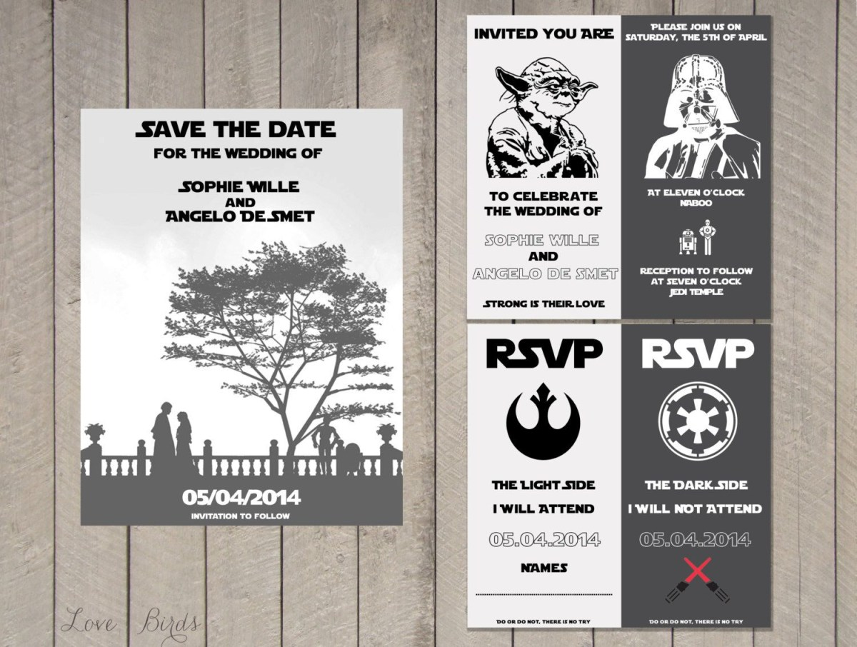 Star Wars Wedding Invitations Star Wars Wedding Invitations Wallpaperhawk