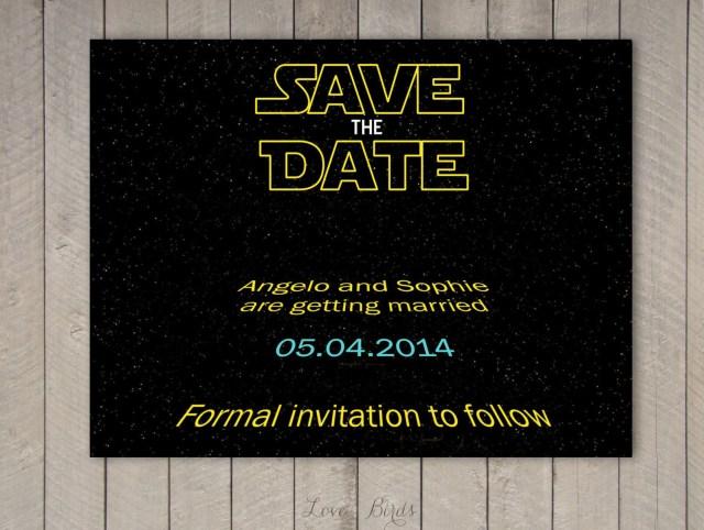 Star Wars Wedding Invitations Wedding Save The Date Star Wars Digital File In 2018 Nancys