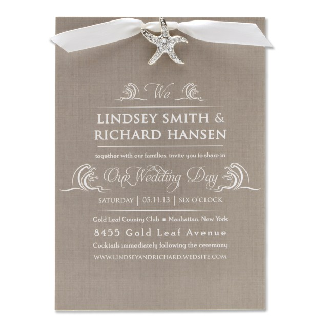 Starfish Wedding Invitations Beach Wedding Invitations Rhinestone Starfish Invitations R2