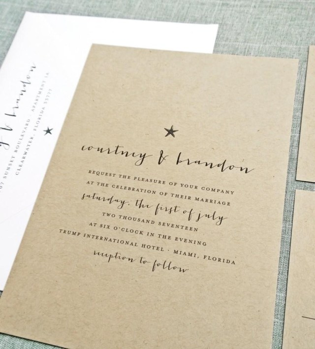 Starfish Wedding Invitations Courtney Kraft Beach Wedding Invitation Sample Rustic Recycled