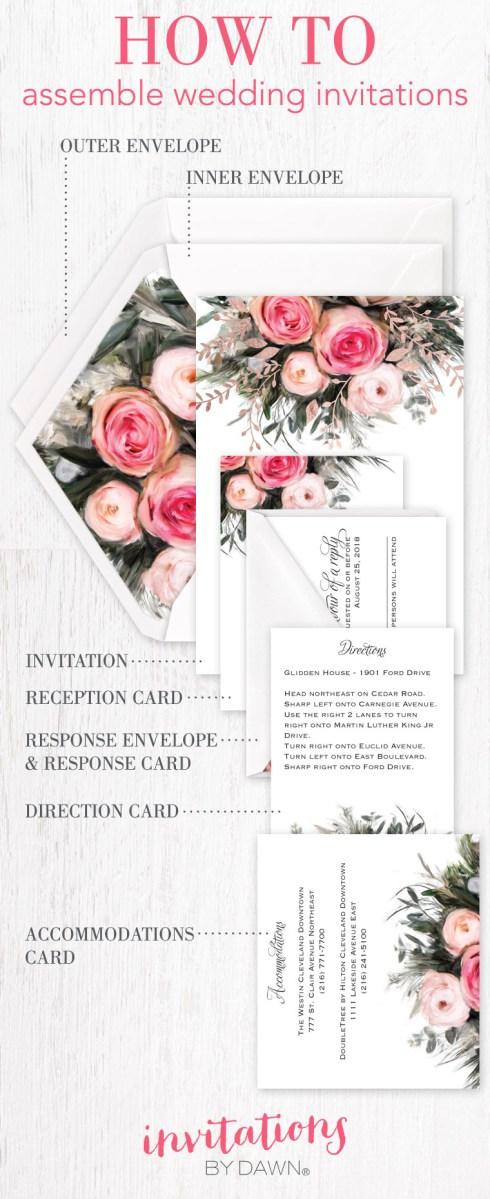 Stuffing Wedding Invitations Assembling Wedding Invitations Invitations Dawn