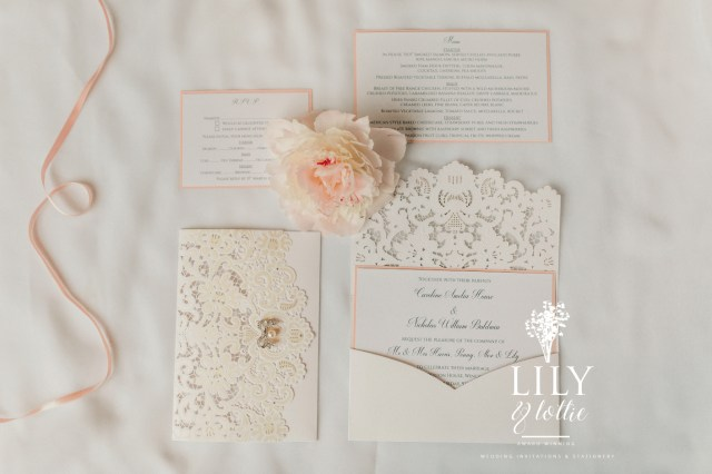 Stuffing Wedding Invitations Camille 2 Luxury Lasercut Wedding Invitation Lily Lottie Intended