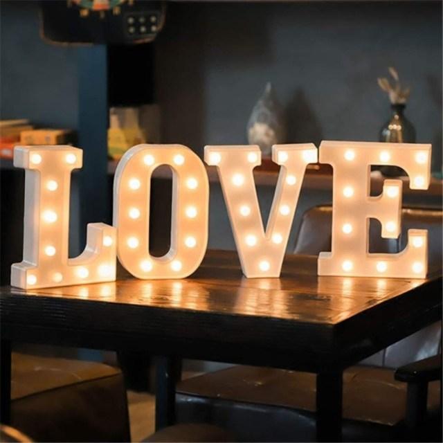 Table Lights Wedding 16cm Led Light Letter Marquee Alphabet Light Indoor