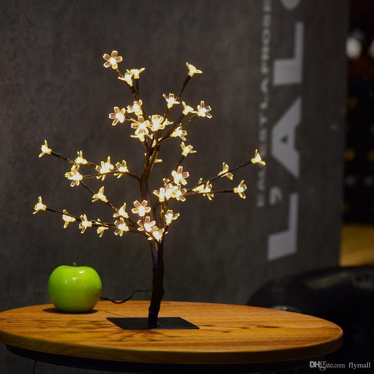Table Lights Wedding 2019 Crystal Cherry Blossom 48 Leds Tree Light Night Lights Table