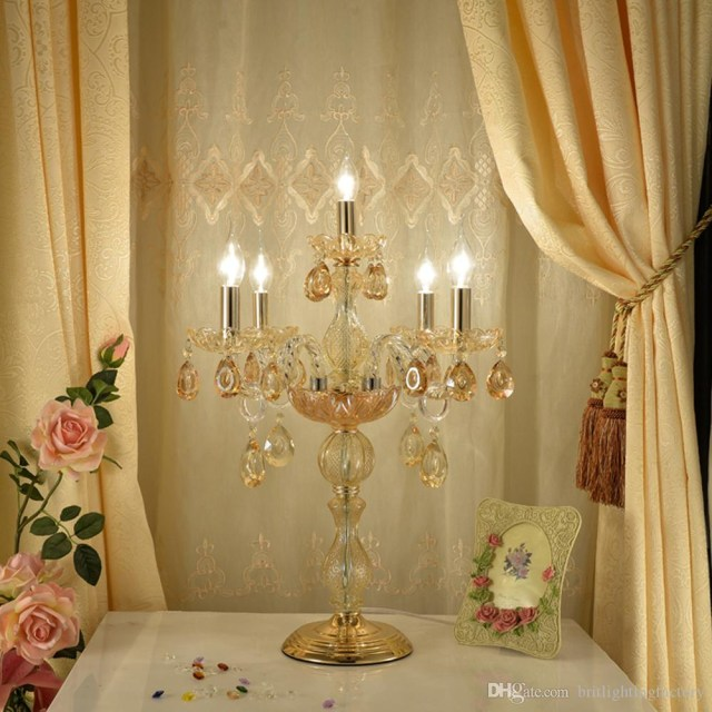 Table Lights Wedding 2019 Glass Table Lamp Wedding Decoration Table Light Bedroom Modern