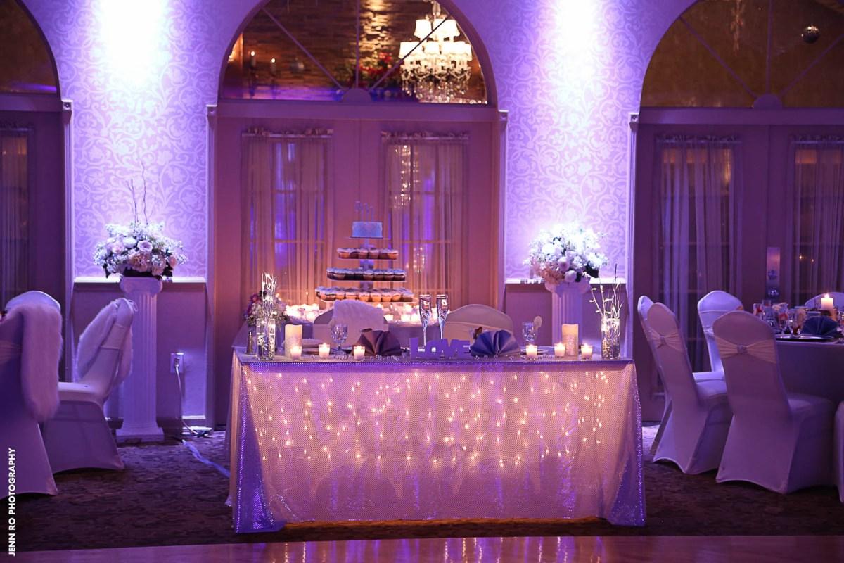 Table Lights Wedding Couples Table String Lights Wedding Versaillesballroom Versailles