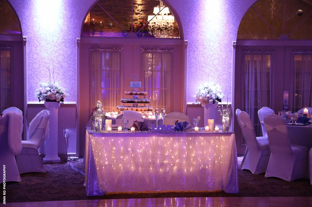 Table Lights Wedding Couples Table String Lights Wedding Versaillesballroom Versailles