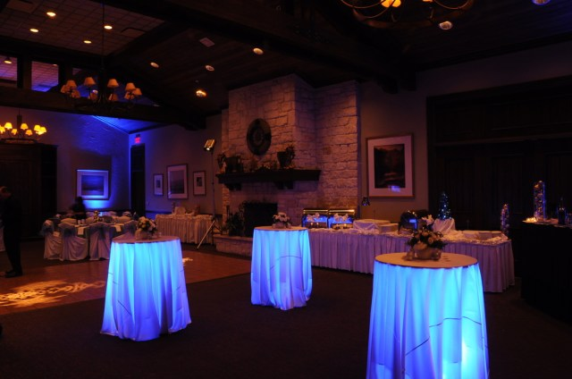 Table Lights Wedding Under Table Uplighting Portland Wedding Lights