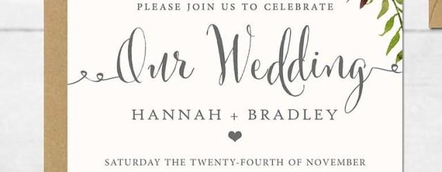 Templates For Wedding Invitations 16 Printable Wedding Invitation Templates You Can Diy Wedding