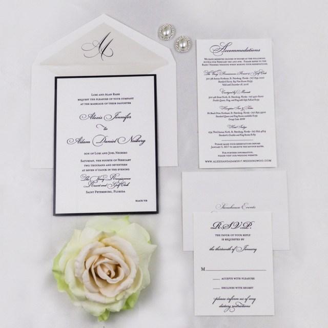 Traditional Wedding Invitation Black White Traditional Wedding Invitations Ap Designs