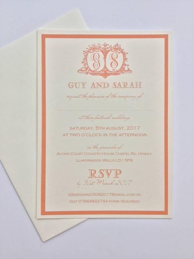 Traditional Wedding Invitation Monogrammed Traditional Wedding Invitations Claryce Design