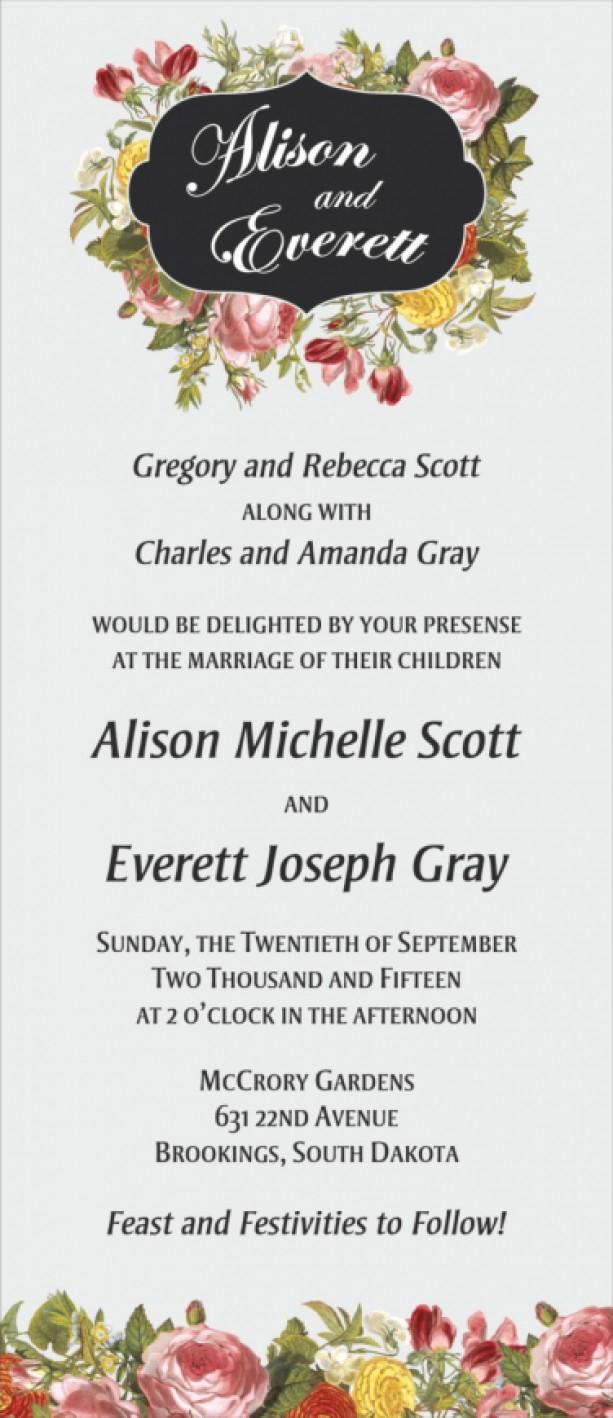 Traditional Wedding Invitation Traditional Wedding Invitation Set Custom Design Printable