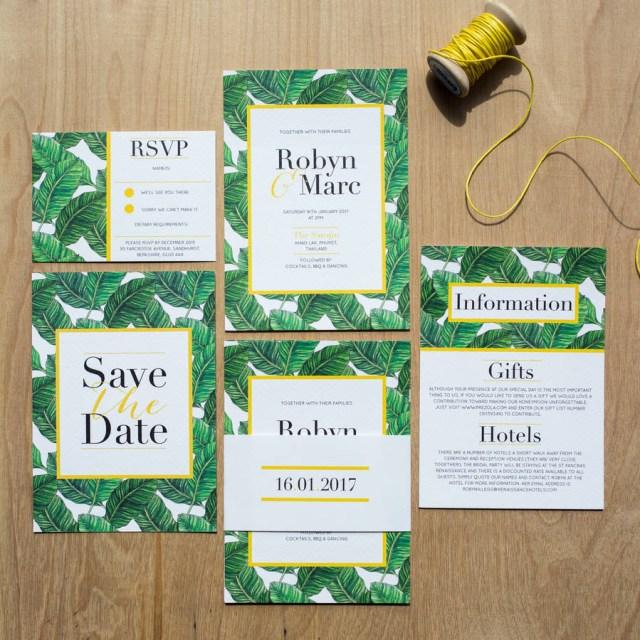 Tropical Wedding Invitations Tropical Banana Leaf Wedding Invitation Sincerely May