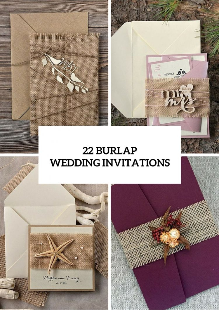 Unique Wedding Invitation Ideas 22 Cute Burlap Wedding Invitation Ideas Weddingomania
