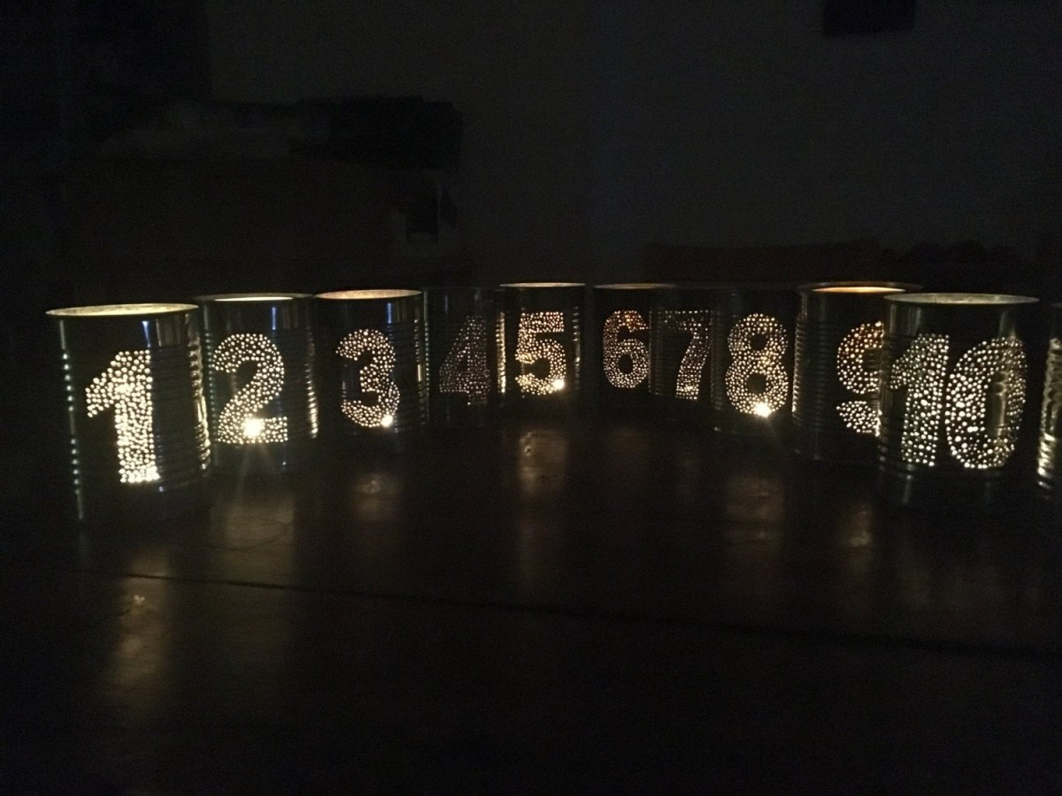 Upcycled Wedding Decorations Set Of 10 Upcycled Wedding Tin Can Table Numbers Alphabet Etsy
