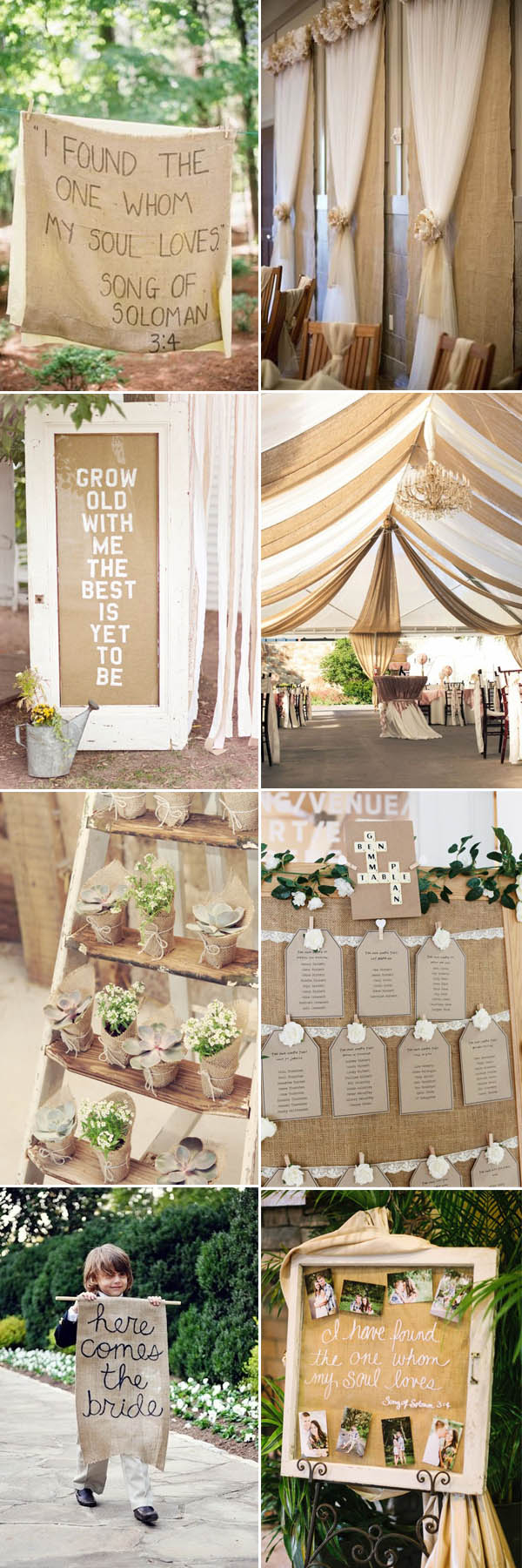 Upcycled Wedding Decorations The Most Complete Burlap Rustic Wedding Ideas For Your Inspiration