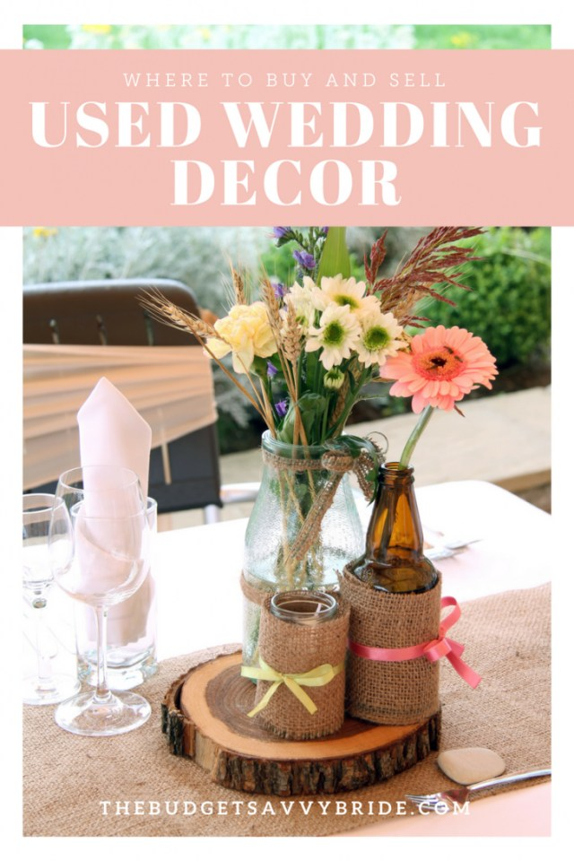 Upcycled Wedding Decorations Where To Buy And Sell Used Wedding Decor Online
