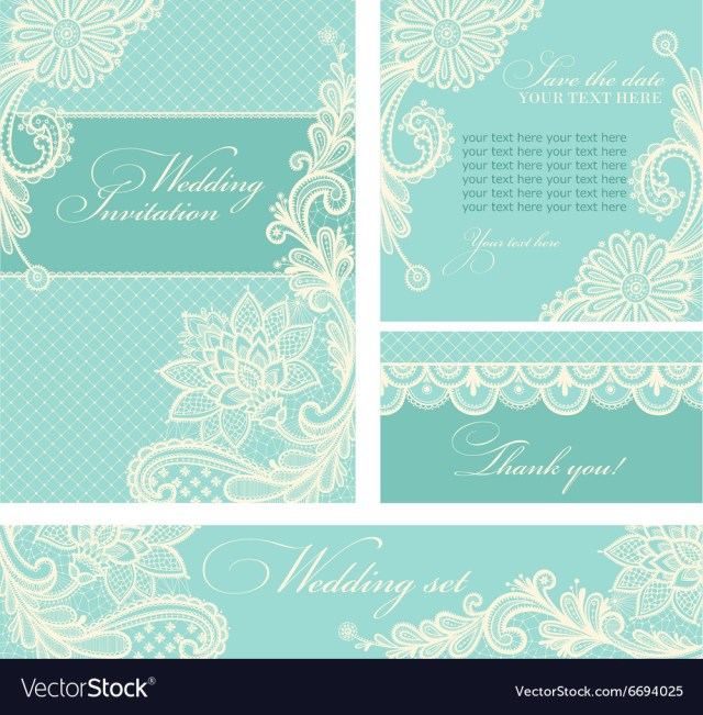 Vintage Lace Wedding Invitations Wedding Invitations With Vintage Lace Background Vector Image