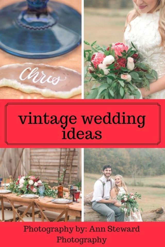 Vintage Wedding Ideas Jewel Toned Vintage Wedding Ideas