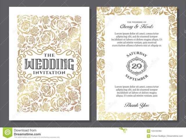 Vintage Wedding Invitation Templates Luxury Vintage Wedding Invitation Templates Stock Vector
