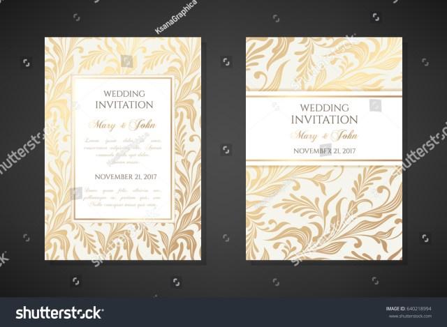 Vintage Wedding Invitation Templates Vintage Wedding Invitation Templates Cover Design Stock Vector