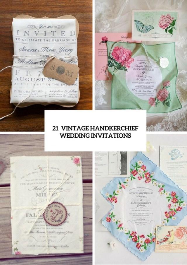 Vintage Wedding Invitations 21 Charming Handkerchief Wedding Invitations For Vintage Weddings