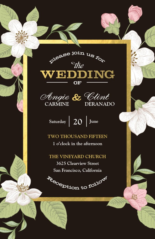 Vistaprint Wedding Invitations Bold Floral Wedding Invitation Vistaprint Wedding Save The Date