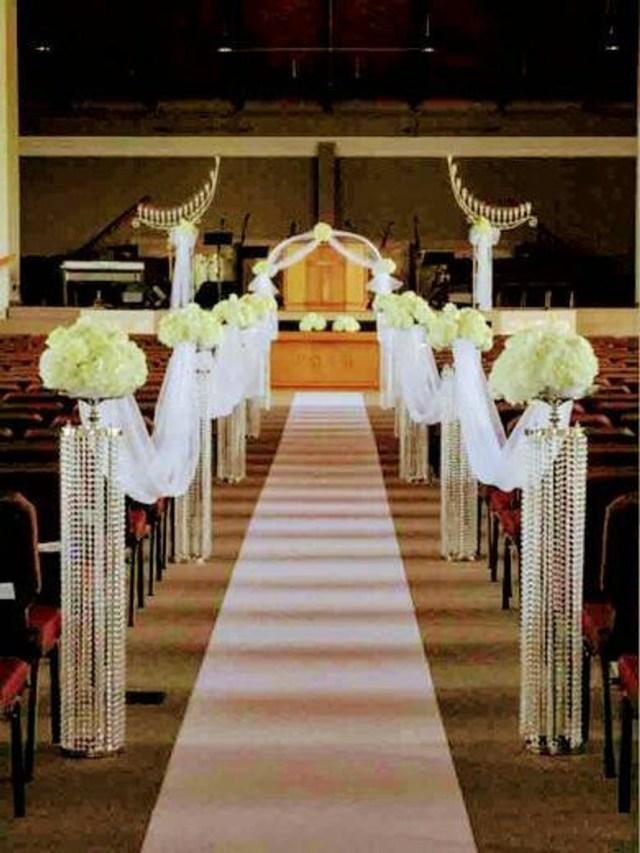 Wedding Aisle Decor Aisle Decorationschandelier Centerpieces Chandelier Etsy