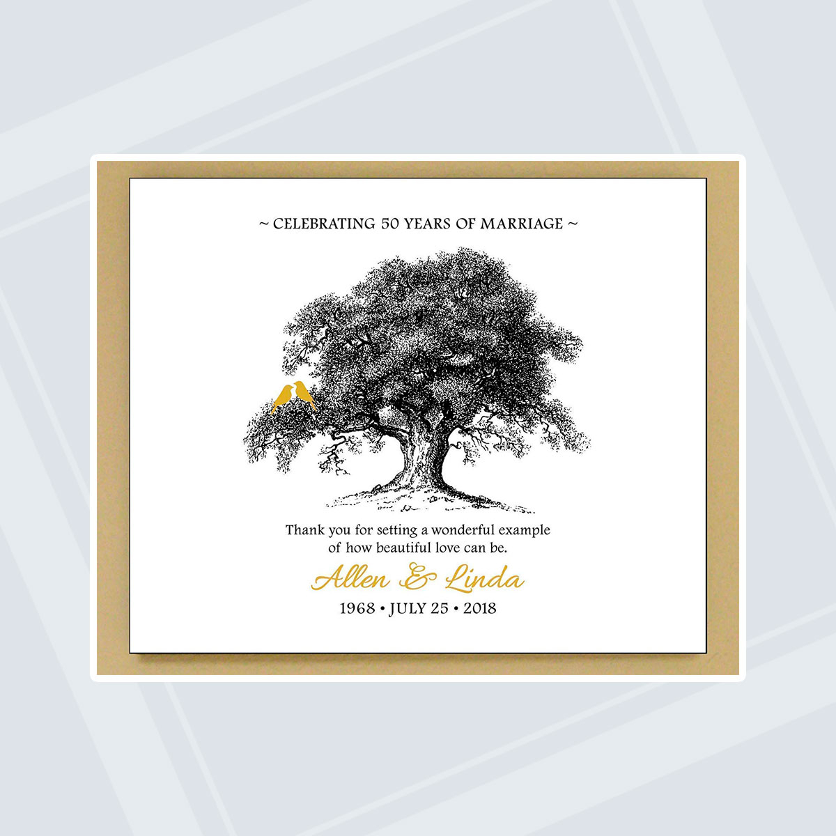 Wedding Anniversary Ideas These 50th Wedding Anniversary Gifts Will Stand The Test Of Time