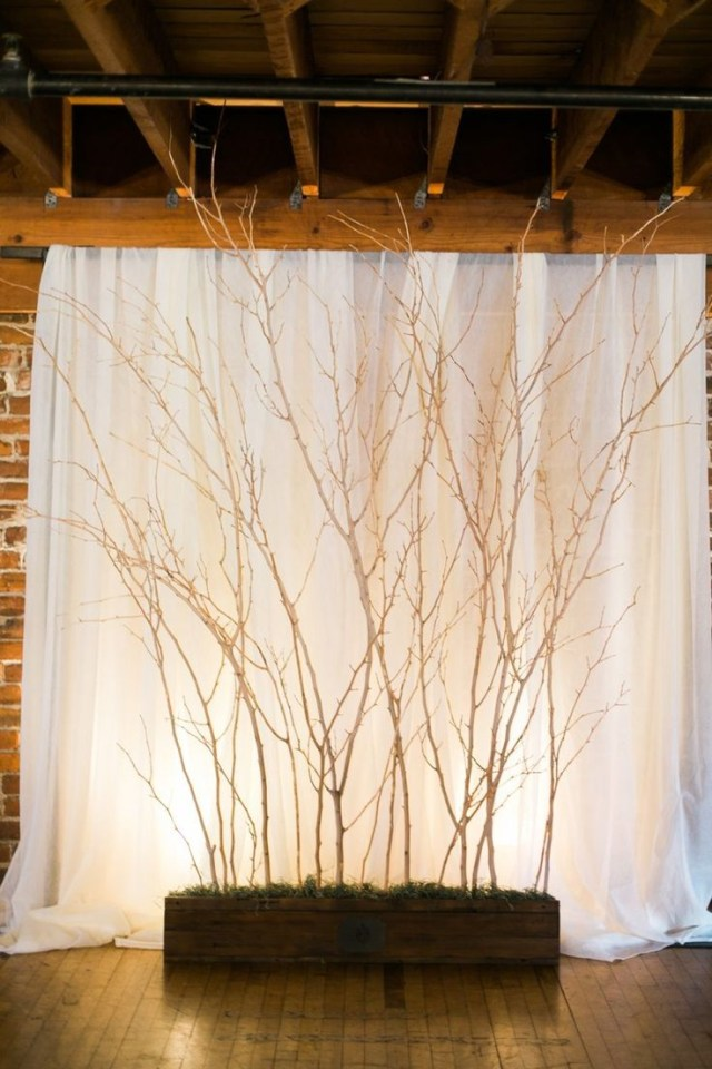 Wedding Backdrop Ideas 30 Chic Rustic Wedding Ideas With Tree Branches Tulle Chantilly