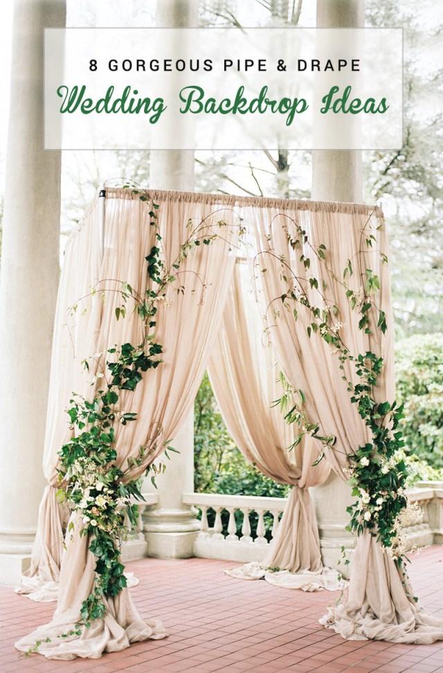 Wedding Backdrop Ideas 8 Gorgeous Pipe Drape Wedding Backdrops Bridalpulse