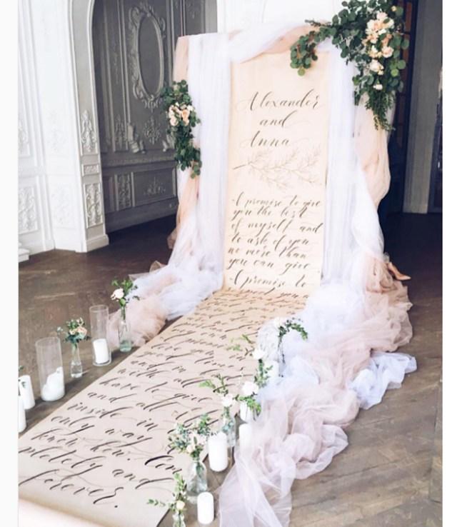 Wedding Backdrop Ideas Illustrations To Calligraphy 10 Pretty Creative Wedding Backdrop