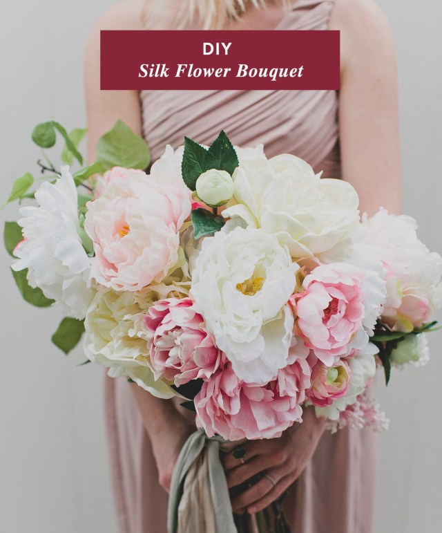 Wedding Bouquets Diy Diy Silk Flower Bouquet With Afloral Green Wedding Shoes